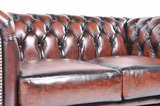Chesterfield Sofa Original Leather | 2-seater  | Wash Off Brown | 12 years guarantee_
