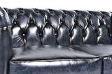 Chesterfield Sofa Original Leather | 2-seater  | Wash Off Blue | 12 years guarantee_