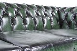 Chesterfield Sofa Original Leather | 2-seater  | Wash Off Green | 12 years guarantee_