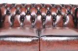 Chesterfield Sofa Original Leather | 3-seater  | Wash Off Brown | 12 years guarantee_