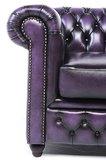 Chesterfield Sofa Original Leather | 3-seater  | Wash Off Purple | 12 years guarantee_