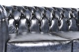 Chesterfield Sofa Original Leather | 4-seater  | Wash Off Blue | 12 years guarantee_