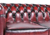 Chesterfield Sofa Original Leather | 3-seater  | Wash Off Red | 12 years guarantee_