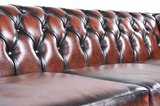 Chesterfield Sofa Original Leather | 4-seater  | Wash Off Brown | 12 years guarantee_