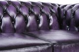 Chesterfield Sofa Original Leather | 5-seater  | Wash Off Purple | 12 years guarantee_