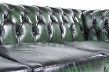 Chesterfield Sofa Original Leather | 5-seater  | Wash Off Green | 12 years guarantee_