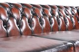 Chesterfield Sofa Original Leather | 6-seater  | Wash Off Brown | 12 years guarantee_