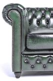 Chesterfield Armchair Original Leather | Wash Off Green | 12 years guarantee_