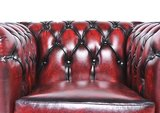 Chesterfield Armchair Original Leather | Wash Off Red | 12 years guarantee_
