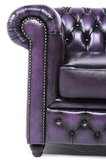Chesterfield Armchair Original Leather | Wash Off Purple | 12 years guarantee_