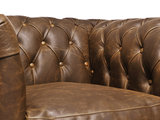 Chesterfield Armchair Vintage Leather | Alabama C1059 | 12 years guarantee_