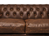 Chesterfield Sofa Vintage Leather   2-seater    C0869   12 years guarantee_
