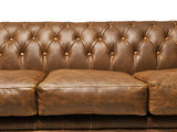 Chesterfield Sofa Vintage Leather | 3-seater  | Alabama C1059 | 12 years guarantee_