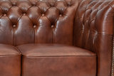 Chesterfield Armchair Class Leather | Cloudy Brown Old | 12 years guarantee_