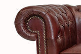 Chesterfield Sofa Class Leather | 2-seater | Cloudy Red | 12 years guarantee_