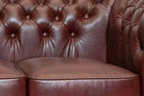Chesterfield Sofa Class Leather | 3-seater | Cloudy Red | 12 years guarantee_