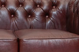 Chesterfield Sofa  First Class Leather | 2-seater | Cloudy Red | 12 years guarantee_