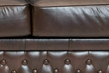 Chesterfield Sofa  First Class Leather | 3-seater | Cloudy Brown Dark | 12 years guarantee_