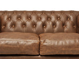 Chesterfield Sofa Vintage Leather   4-seater    Alabama C1059   12 years guarantee_