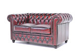 Chesterfield Sofa Original Leather | 2 + 3 seater  | Wash Off Red | 12 years guarantee_