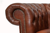 Chesterfield Sofa  First Class Leather | 2-seater | Cloudy Brown Old | 12 years guarantee_