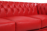 Chesterfield Sofa Original Leather   1 + 2 + 3 seater    Red   12 years guarantee_