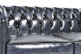 Chesterfield Sofa Original Leather | 1 + 2 + 3 seater  | Wash Off Blue | 12 years guarantee_
