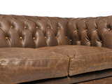 Chesterfield Sofa Vintage Leather   1 + 1 + 3 seater    Alabama C1059   12 years guarantee_