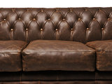 Chesterfield Sofa Vintage Leather   1 + 1 + 3 seater    C0869   12 years guarantee_