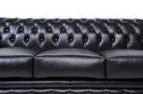Chesterfield Sofa Original Leather   1 + 1 + 3 seater    Black   12 years guarantee_