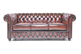 Chesterfield Sofa Original Leather | 1 + 1 + 3 seater  | Wash Off Brown | 12 years guarantee_