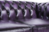 Chesterfield Sofa Original Leather | 1 + 2 seater  | Wash Off Purple | 12 years guarantee_