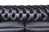 Chesterfield Sofa Original Leather | 1 + 2 seater  | Black | 12 years guarantee_