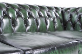 Chesterfield Sofa Original Leather   2 + 3 seater    Wash Off Green   12 years guarantee_