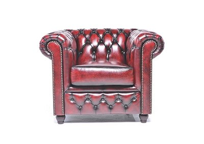 Chesterfield Armchair Original Leather | Wash Off Red | 12 years guarantee