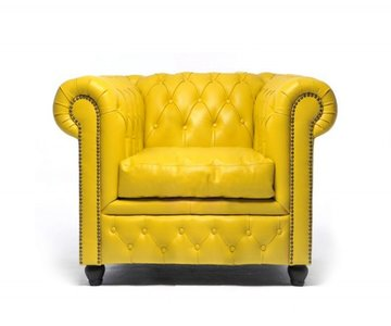 Chesterfield Armchair Original Leather | Yellow | 12 years guarantee