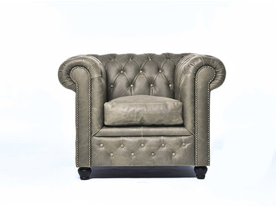 Chesterfield Armchair Vintage Leather | Alabama C1057 | 12 years guarantee