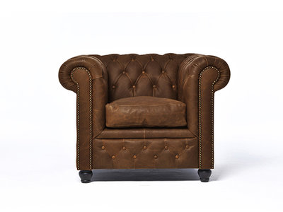 Chesterfield Sofa Vintage Leather | 1-seater  | C0869 | 12 years guarantee