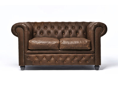 Chesterfield Sofa Vintage Leather   2-seater    C0869   12 years guarantee