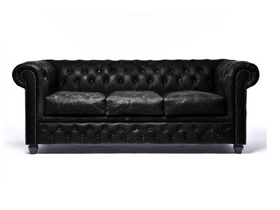 Chesterfield Sofa Vintage Leather | 3-seater  | C0871 | 12 years guarantee
