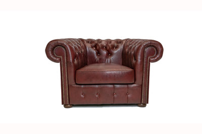 Chesterfield Armchair Class Leather | Cloudy Red | 12 years guarantee