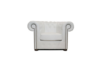 Chesterfield Armchair Class Leather | White | 12 years guarantee