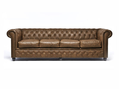 Chesterfield Sofa Vintage Leather   4-seater    Alabama C1059   12 years guarantee