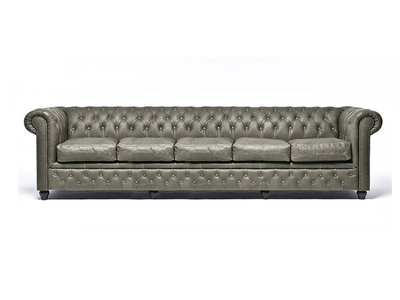 Chesterfield Sofa Vintage Leather | 5-seater  | Alabama C1057 | 12 years guarantee