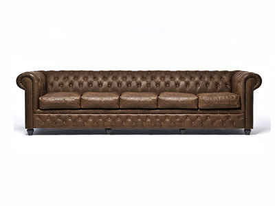 Chesterfield Sofa Vintage Leather | 5-seater  | C0869 | 12 years guarantee