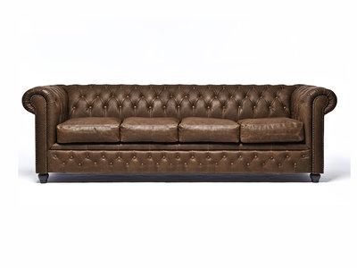 Chesterfield Sofa Vintage Leather | 4-seater  | C0869 | 12 years guarantee