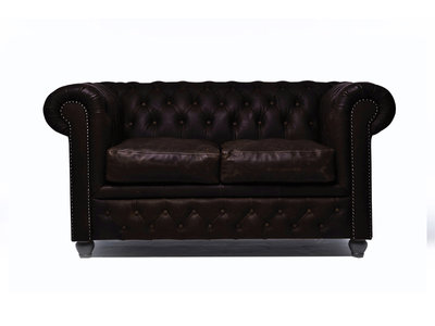 Chesterfield Sofa Vintage Leather | 2-seater  | C0936 | 12 years guarantee