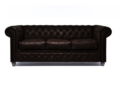 Chesterfield Sofa Vintage Leather | 3-seater  | C0936 | 12 years guarantee